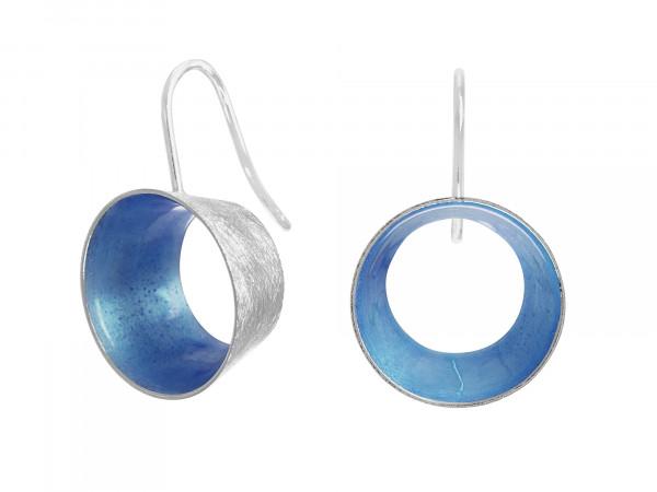 """10 Design Schmuck aus Emaille Ohrhänger Lichtung Silber Blau 600x450 - Ohrhänger """"Lichtung"""" mit farbiger Emaille (Farbauswahl)"""