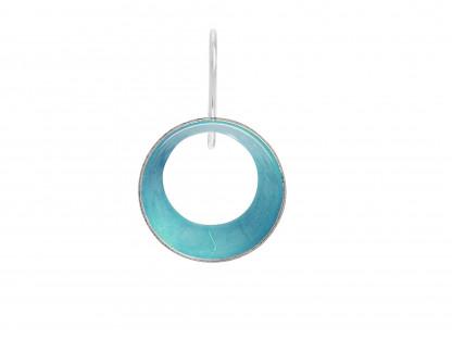 """10 Design Schmuck aus Emaille Ohrhänger Lichtung Silber Türkis 416x312 - Ohrhänger """"Lichtung"""" mit farbiger Emaille (Farbauswahl)"""
