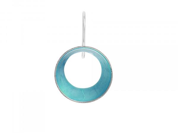 """10 Design Schmuck aus Emaille Ohrhänger Lichtung Silber Türkis 600x450 - Ohrhänger """"Lichtung"""" mit farbiger Emaille (Farbauswahl)"""