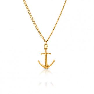 Anker Halskette aus Edelstahl in Gold gelbgold 324x324 - Anker-Halskette HYRNA aus Edelstahl gold
