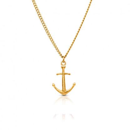 Anker Halskette aus Edelstahl in Gold gelbgold 416x416 - Anker-Halskette HYRNA aus Edelstahl gold