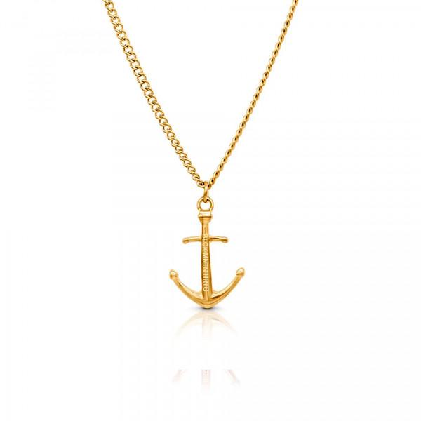 Anker Halskette aus Edelstahl in Gold gelbgold 600x600 - Anker-Halskette HYRNA aus Edelstahl gold
