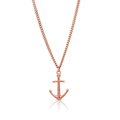 Anker Halskette aus Edelstahl in Rosegold 416x416 - Anker-Halskette KATLA aus Edelstahl roségold