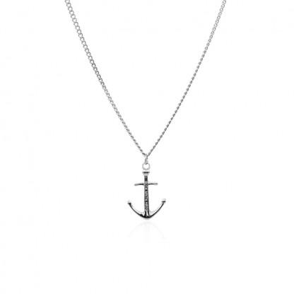 Anker Halskette aus Edelstahl in Silber 416x416 - Anker-Halskette MEYLA aus Edelstahl silber