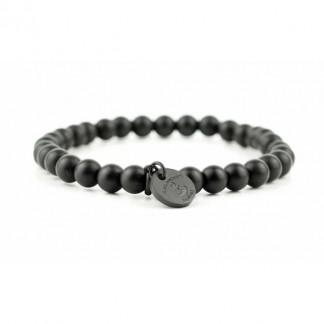 Armband aus schwarzen Obsidian Perlen 324x324 - Steinperlen Armband BLACKBITE schwarz