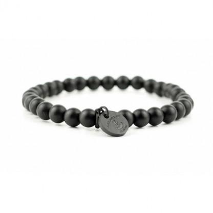 Armband aus schwarzen Obsidian Perlen 416x416 - Steinperlen Armband BLACKBITE schwarz