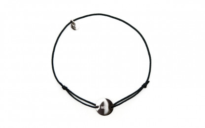 Armband mit Token MOIN fabe schwarz silber 2 416x260 - Token Armband MOIN in Schwarz und Silber