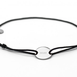 Armband mit Token MOIN fabe schwarz silber 324x324 - Anker Kette MIRA Edelstahl rosegold