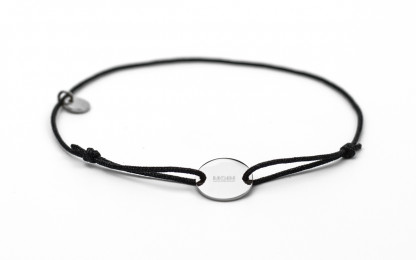 Armband mit Token MOIN fabe schwarz silber 416x260 - Token Armband MOIN in Schwarz und Silber