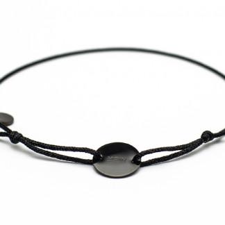 Armband mit Token MOIN schwarz schwarz bird frontansicht 324x324 - Token Armband MOIN in Schwarz und Silber