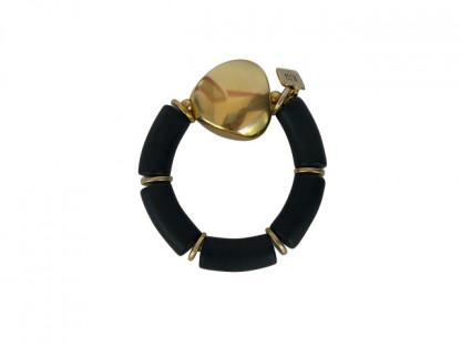 Armband mit schwarzen Boegen und goldenem Triangel 416x312 - Armband mit Bögen und Triangel
