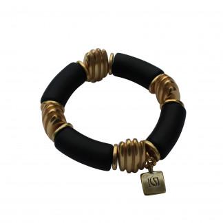 Armband mit schwarzen Boegen und goldenen Daempfern scaled 324x324 - Armband mit Bögen und Dämpfern