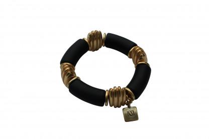 Armband mit schwarzen Boegen und goldenen Daempfern scaled 416x277 - Armband mit Bögen und Dämpfern