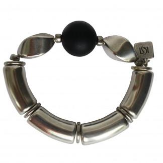 Armband mit schwarzen Kugeln und silberner Nuss scaled 324x324 - Armband mit Kugel und Nuss