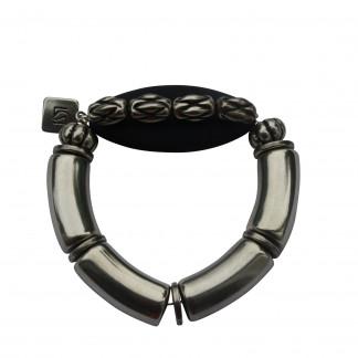 Armband mit silbernen Boegen Kordeln und schwarzem Spitzoval scaled 324x324 - Armband mit Bögen, Spitzoval und Kordeln