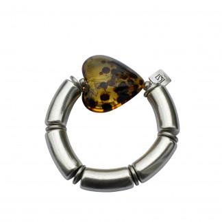 Armband mit silbernen Boegen und braunem Tigerbernsteinherz scaled 324x324 - Armband mit Bögen und Herz