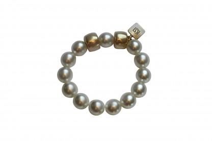Armband mit weissen Perlen und goldenen Reifen scaled 416x277 - Armband mit Perlen und Reifen