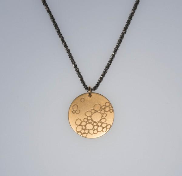 Bubbles vergoldet Silberkette 600x580 - Halskette mit Anhänger bubbles Gelbgold vergoldet