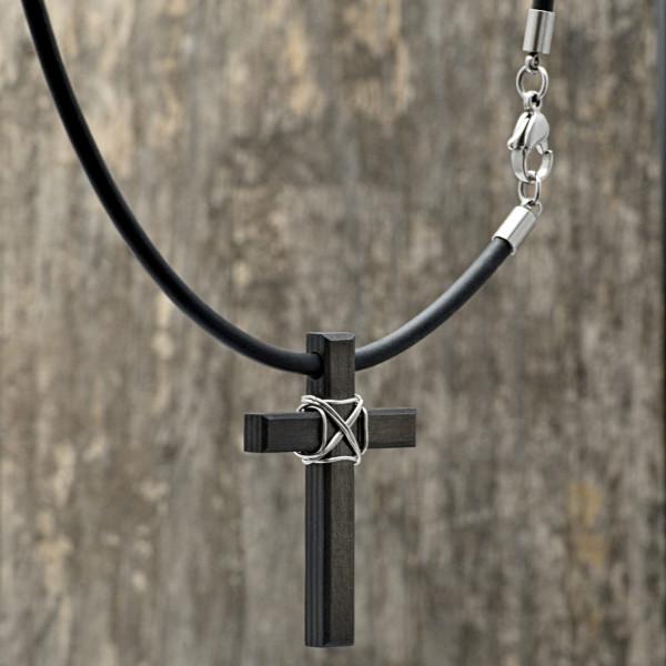 Carbon Schmuck Anhänger Monumentum 600x600 - Halskette mit Carbon-Anhänger 'Momentum Parvum'