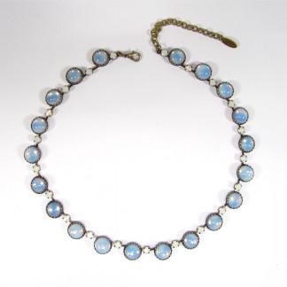Collier vintage 1960s sabrina blue opal Halsketten 324x324 - Collier vintage 1960's sabrina blue opal