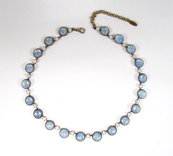 Collier vintage 1960s sabrina blue opal Halsketten 600x541 - Collier vintage 1960's sabrina blue opal
