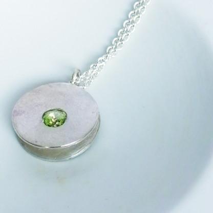 Design-Halskette kaufen mit Stein in Bluegreen
