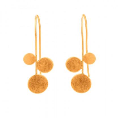"""Design Ohrhänger panicula simpel silber gold plattiert 3er 416x416 - Ohrhänger """"panicula"""" 3er"""
