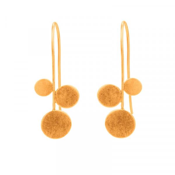 """Design Ohrhänger panicula simpel silber gold plattiert 3er 600x600 - Ohrhänger """"panicula"""" 3er"""