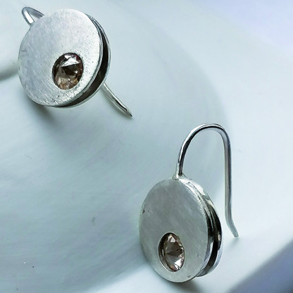 Design-Ohrhänger kaufen Clap MINI Champagner mit Stein in Champagner