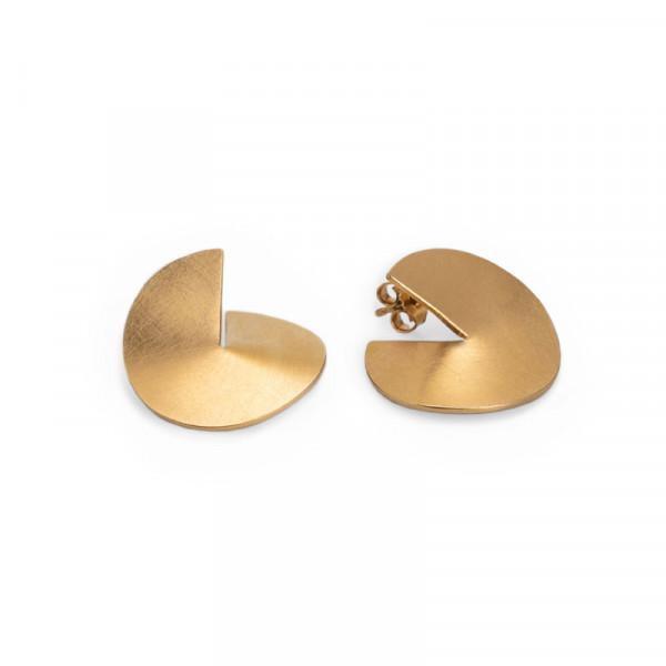 """Design Ohrschmuck aus Silber kaufen gap Silber Gold plattiert 600x600 - Ohrstecker """"GAP"""""""