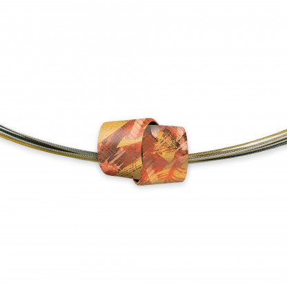 Designschmuck Halskette kaufen Collier Bi Color TO010 416x416 - Collier Painting+Structure Medium (Varianten)