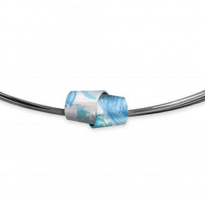 Designschmuck Halskette kaufen Silber Collier Edelstahl TO005 416x416 - Collier Painting+Structure Fein (Varianten)