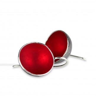 Designschmuck Ohrhänger Becherling 1 Becher rund rot Silber geschwärzt scaled 324x324 - Ohrhänger 'Becherling' mit einem farbigen Becher