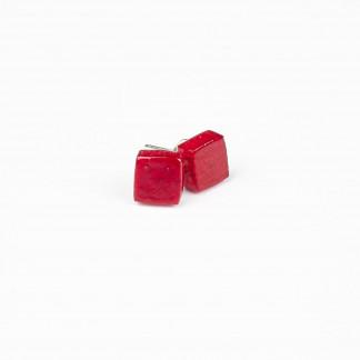 Designschmuck Ohrstecker aus Mangoholz quadrat Farbe himbeere 324x324 - Ohrstecker mit Quadrat aus Mangoholz (Farbauswahl)