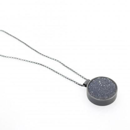 Designschmuck kaufen 17 Anhänger kristalisierter Achat Halskette 416x416 - Halskette mit kristallisiertem Achat