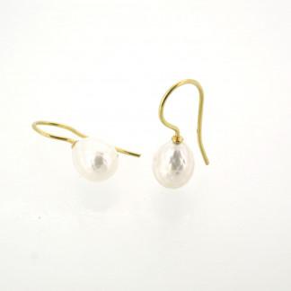 Designschmuck kaufen 29 Ohrhänger Süßwasser Zuchtperle facettiert 324x324 - Goldene Ohrhänger mit Onion-Cut Rutilquarz