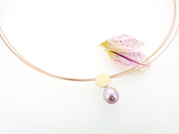 Designschmuck kaufen 8 Anhänger Perltropfen Halskette 600x450 - Schale Elementar - Kettenanhänger mit Tropfenperle