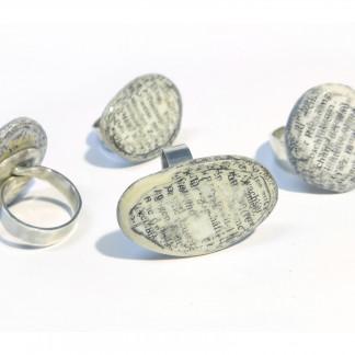 Designschmuck kaufen Ring Kiesel aus dem Fluss des Wissens