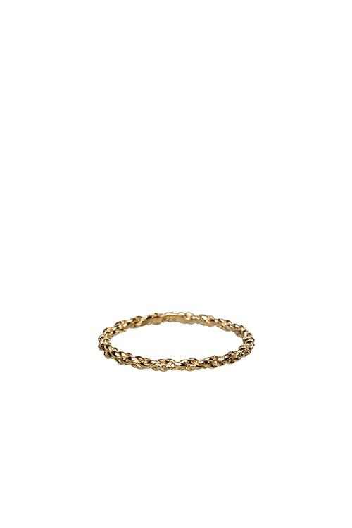Doppelt kordierter Ring aus Gold 222 - Doppelt kordierter Schnurring aus Gold