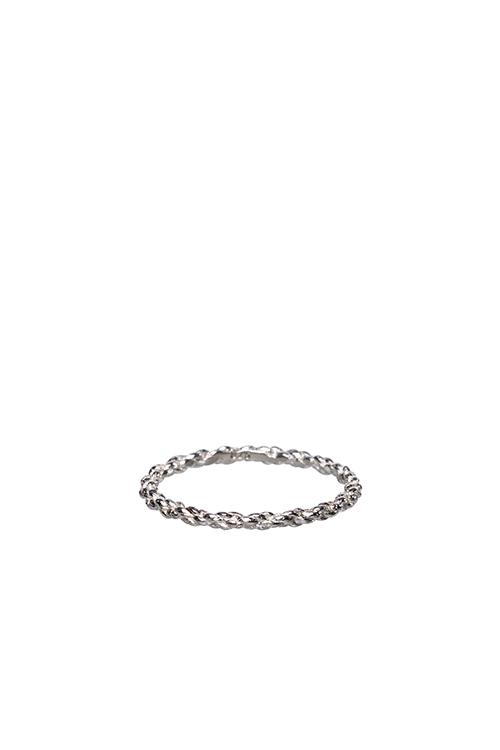 Doppelt kordierter Ring aus Silber 222 - Doppelt kordierter Schnurring aus Silber