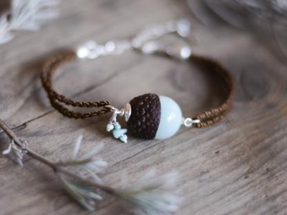Eichelhut Armband mit mintgruener Jade und Amazonit 2 416x312 - Eichelhut-Armband mit mintgrüner Jade und Amazonit