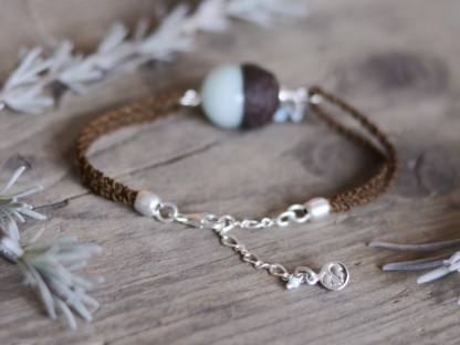Eichelhut Armband mit mintgruener Jade und Amazonit 3 416x312 - Eichelhut-Armband mit mintgrüner Jade und Amazonit