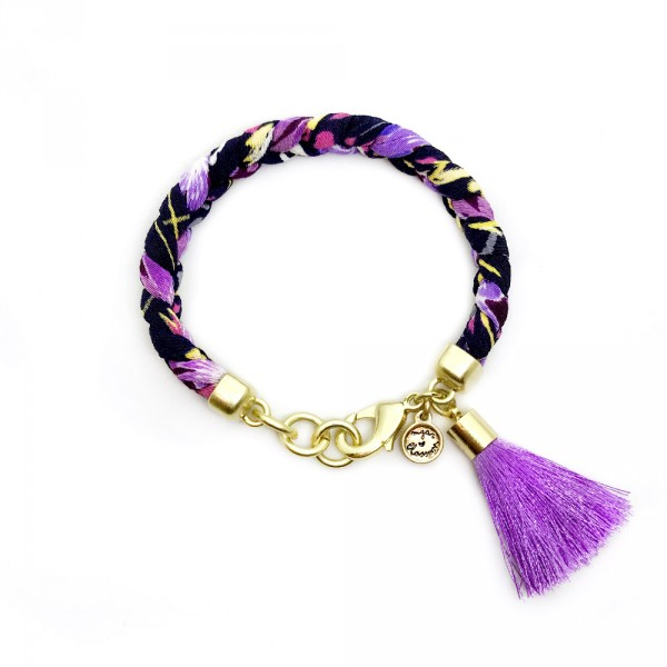 Frida Gold tassel 600x600 - Frida (Gold Purple Tassel)