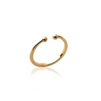 Handschmuck Ring Kugel gold 324x324 - Pünktchenring 925er Silber mit blauem Zirkon