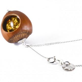 Haselnuss Halskette mit Bernstein 1 324x324 - Halskette 3 Pusteblumen Gelbgold vergoldet