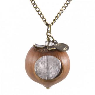 Klare Haselnuss Halskette mit Bergkristall in Bronze 324x324 - Klare Haselnuss-Halskette mit Bergkristall in Bronze