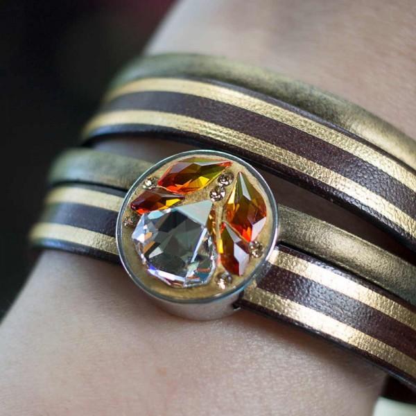 Lederarmband in Bronze Gold gestreift mit Edelstahl Magnet Verschluss und Schiebeperle 3 600x600 - Lederarmband in Bronze Gold gestreift mit Edelstahl-Magnetverschluss und Schiebeperle