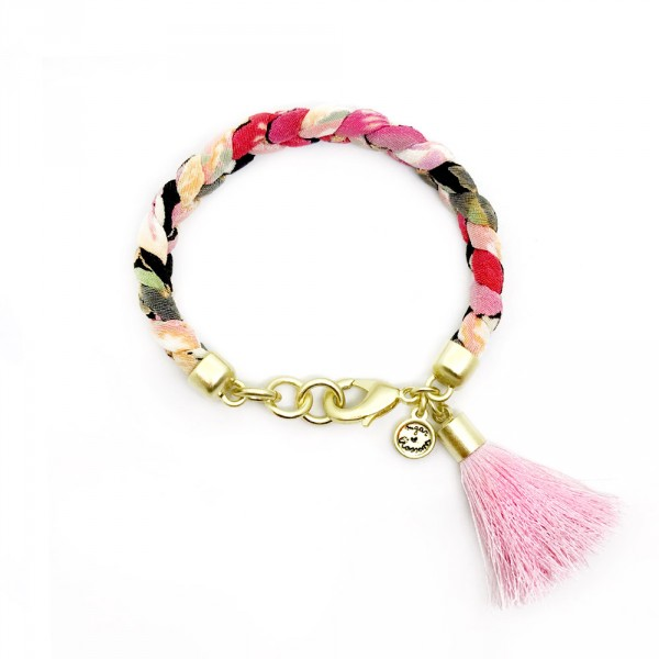 Mary Gold tassel 600x600 - Mary (Gold Pink Tassel)