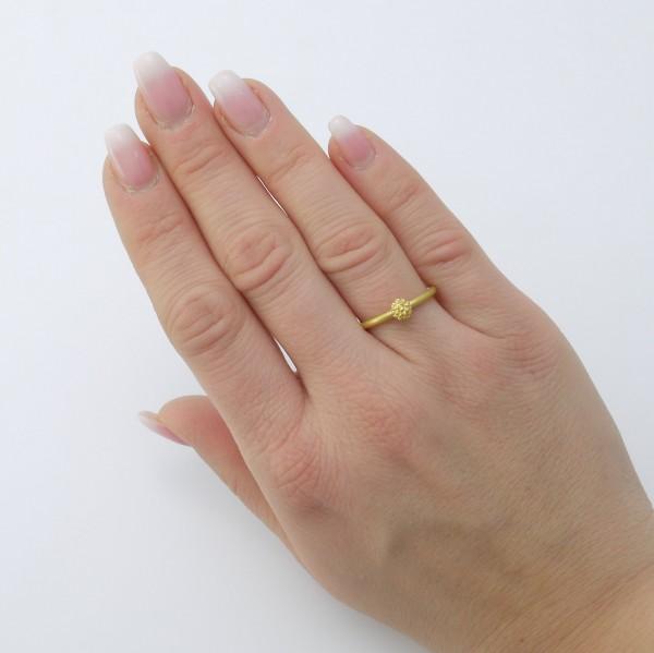 Mimosenring einfach Gold 600x599 - Mimosenring einfach aus Gold