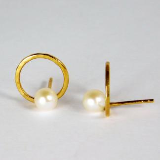 Ohrringe Perlenring Gold 1 324x324 - Ohrringe Ringe im Ring Gold